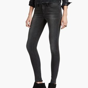 Lucky Brand Mid-Rise Washed Brooke Skinny Jeans